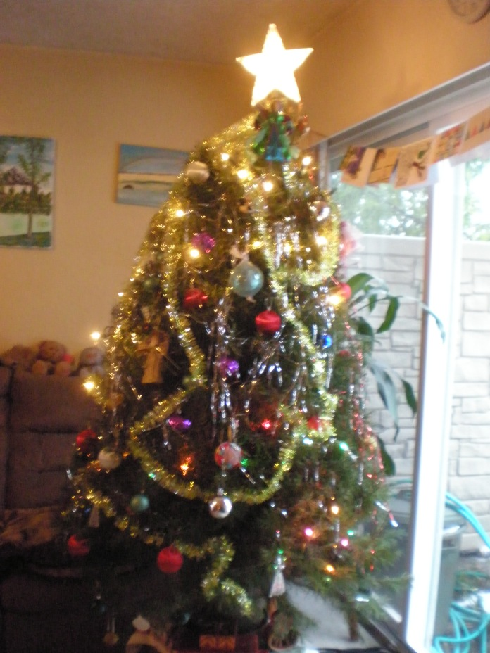 Christmas tree 2016 that friends decorated as I was laid up with a broken rib